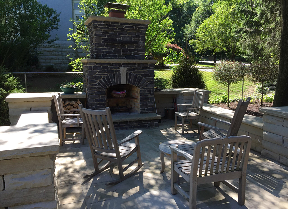 Paver and Stone Patio
