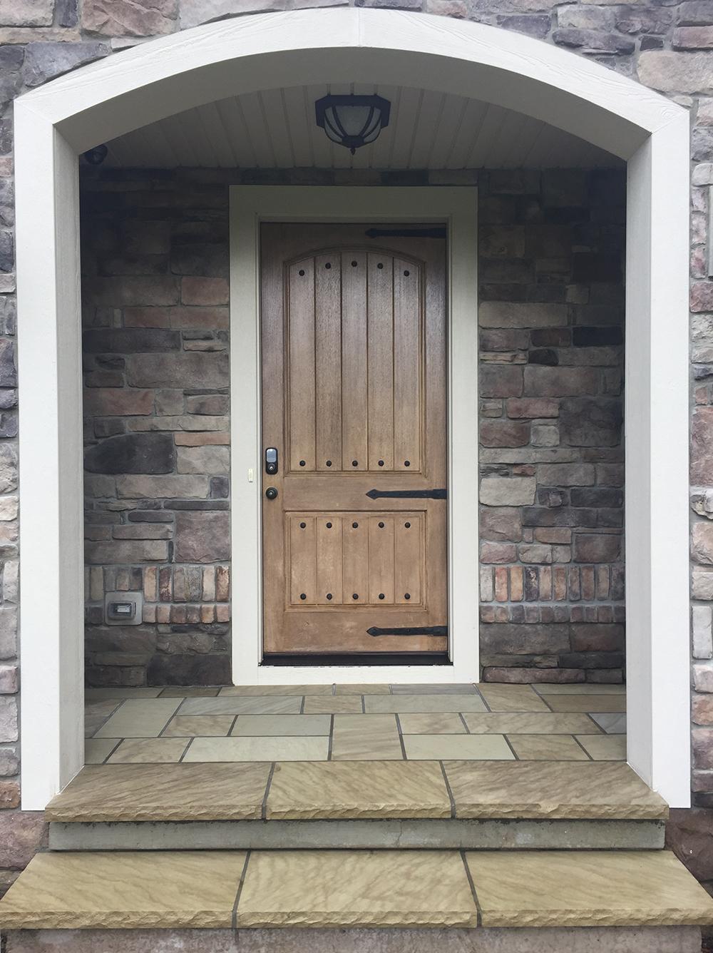 Custom Stonework Entryway